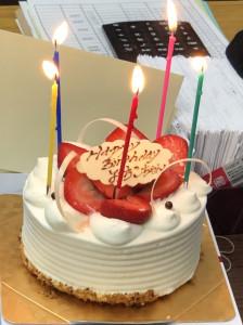 神田さんお誕生日ケーキ