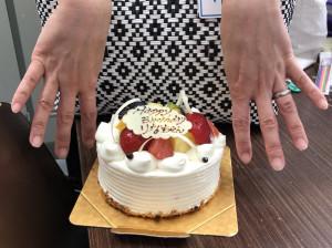 木村さん&お誕生日ケーキ